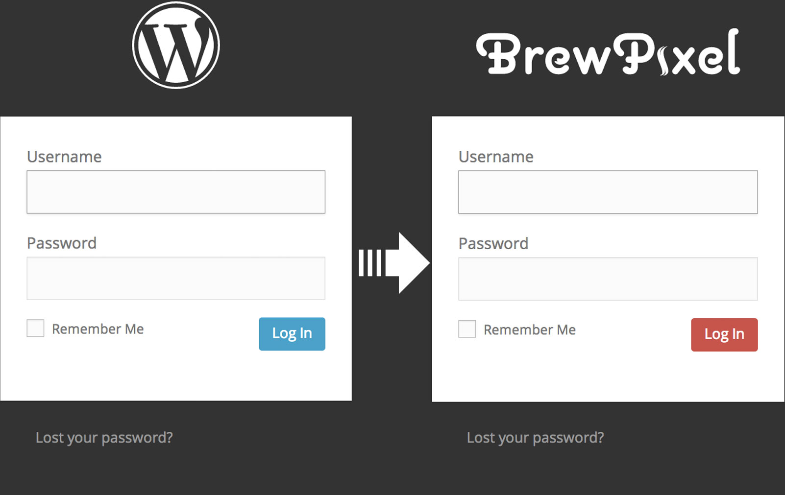 WordPress custom login